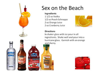 Sex on the beach ingredients