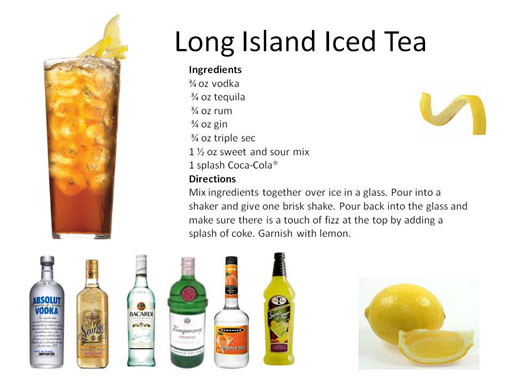 L midnight mixologist for Iced tea cocktail recipes