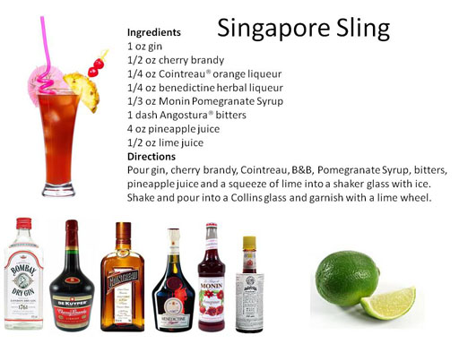The Singapore Sling Recipe — Dishmaps